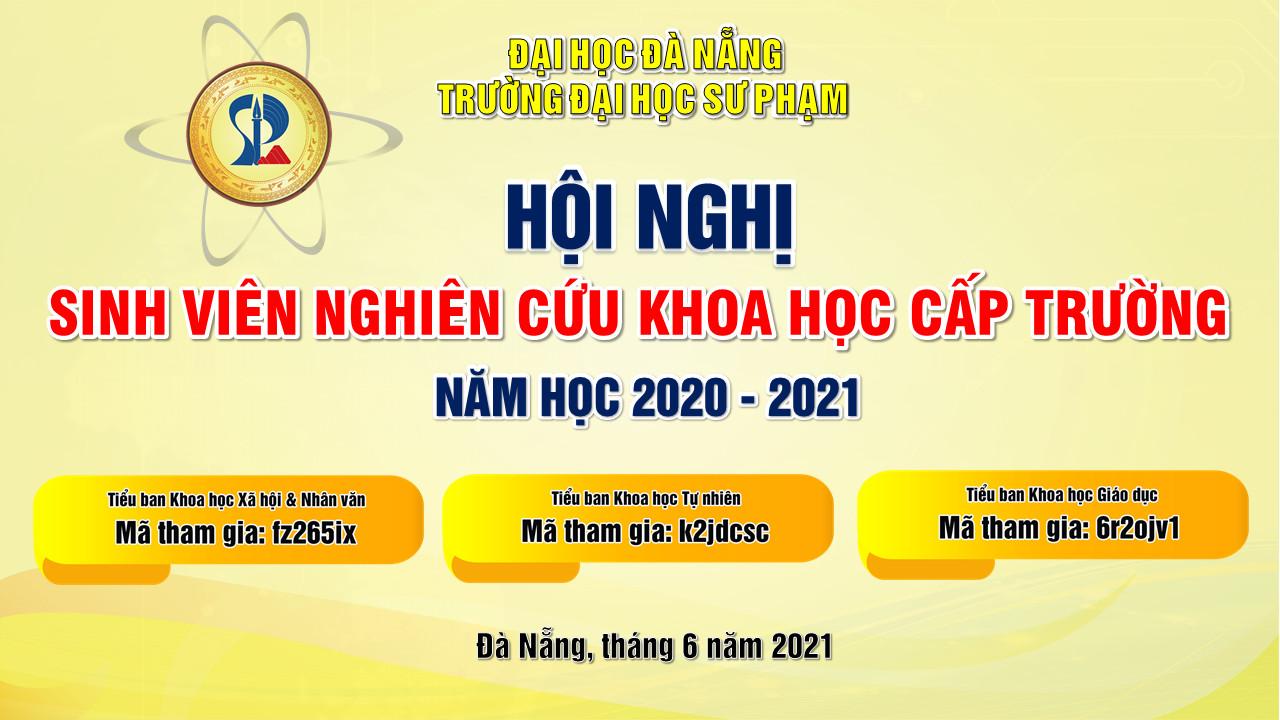 THƯ MỜI THAM DỰ HỘI NGHỊ SVNCKH CẤP TRƯỜNG NĂM HỌC 2020-2021