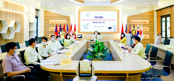 Hội nghị sinh viên Nghiên cứu Khoa học cấp Trường năm học 2020 – 2021