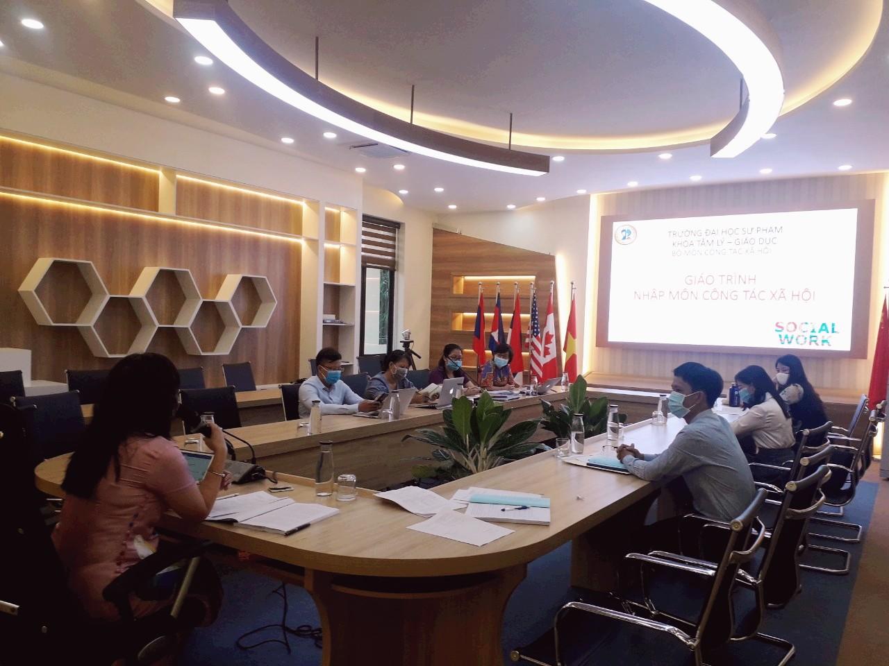 Trường Đại học Sư phạm – Đại học Đà Nẵng tổ chức nghiệm thu giáo trình: Nhập môn Công tác xã hội