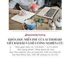 Khóa học miễn phí của AuthorAID: Viết bài báo và đề cương nghiên cứu